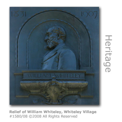 Relief of William Whiteley, Whiteley Village near Hersham